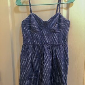 Blue polka dot dress - CUTE!